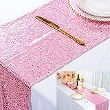 ShinyBeauty Chemin de Table à Paillettes Scintillantes Or Rose pour Mariage/décoration d'événements 30 * 180cm (Peut Choisir