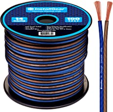 InstallGear 14 Gauge Ga Awg 100ft Speaker Cable True Spec and Soft Touch Wire