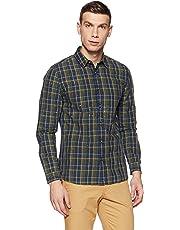 Jack & Jones Men's Checkered Slim Fit Cotton Casual Shirt