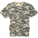 100% Cotton Military Style T-Shirt - ACU Camouflage (3XL)