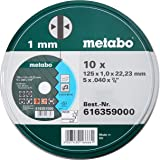 Metabo 6.16359.00 Promotion Doorslijpschijven, 125 x 1,0 x 22,23 mm Inox, 10 Stuks