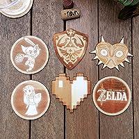 Ensemble de 6 sous-verres en bois - La Légende de Zelda Collection