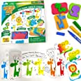 Imagimake Stamp Art Jungle Coloring & Stamping Set For Girls & Boys 3 Years +, Multicolor