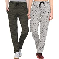 SHAUN Women's Regular Fit Trackpants(Pack of 2)