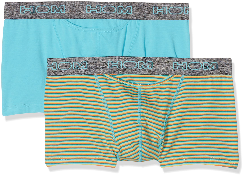 HOM Boxerlines #2 Briefs HO1, Boxer Uomo, Mehrfarbig (Striped Yellow/Green/Orange+Turquoise V002),