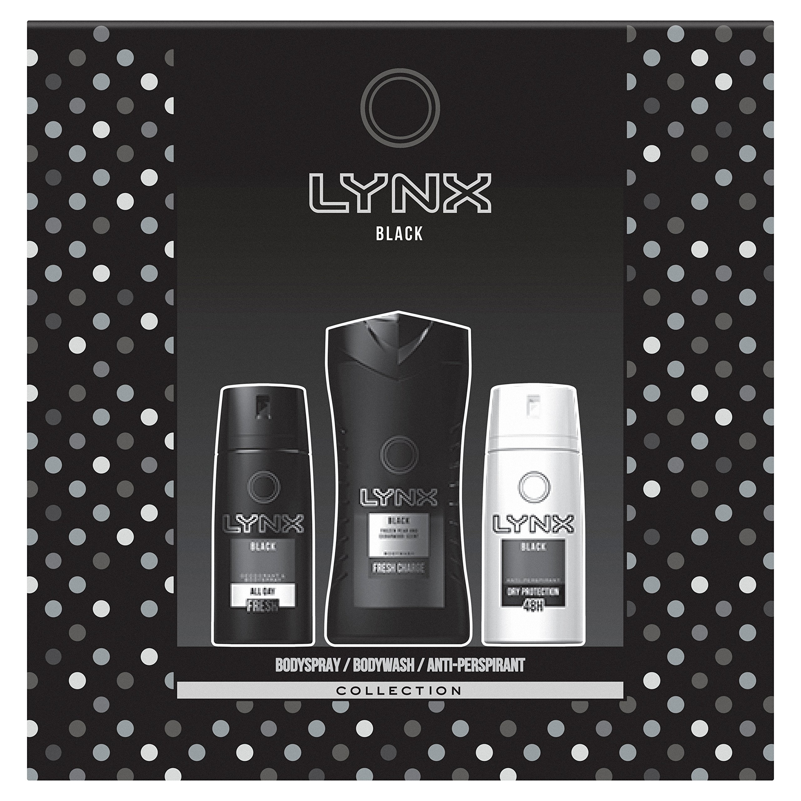 Lynx Black Trio Gift Set for Men, Exclusive To Amazon 8710522382967