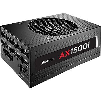 Corsair AX1500i Alimentation PC (Modulaire Complet, 80 PLUS Platinum, 1500 Watt, Digital, EU)