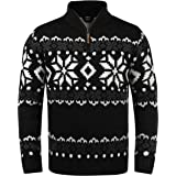 Solid Norwin Men's Jumper Chunky Knit Pullover Troyer
