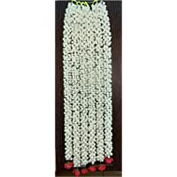SPHINX Artificial Jasmine Buds And Rose Strings Garland (Off White, Pack Of 6)