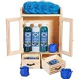 BRUBAKER Cosmetics - Coffret de bain - Myrtille - 10 Pièces - Armoire en Bois - Idée cadeau