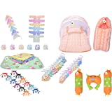 Toddylon New Born Baby Products All Combo in One Packet (Multicolour, 0-6 Months) (Orange Dot)