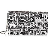 Love Moschino, Umhängetasche für Damen, Kollektion Herbst Winter 2021, Weiß, U
