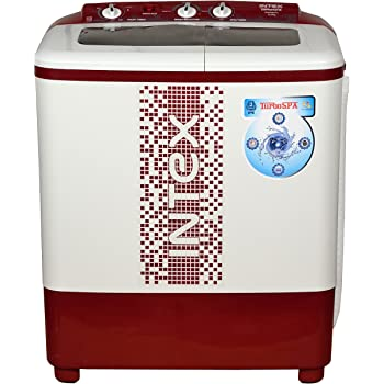 Intex 6.2 kg Semi-Automatic Top Loading Washing Machine (WMS62TL, White and Maroon)