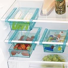 Klemm-Schublade für Kühlschrank 3er-Set transparent Schublade Aufbewahrungsbox Kühlschrankbox Schublade Aufbewahrungskiste Gemüsefach Kühlfach Gemüseschale Fach Zusatzfach