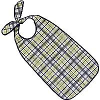 PFLEGE-POINT® Kleidungsschutz/Ess-Schürze für Erwachsene mit Steckverschluss, wasserdicht (blau-beige)
