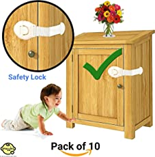 Snuggles Furniture Safety Locks for Kids (21x5cm, White) - 10 Pcs