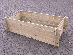 stabiler Holzkomposter Komposter Kompostbehälter Hochbeet 120 x 120 x 55 cm / 170 x 85 x 52 cm