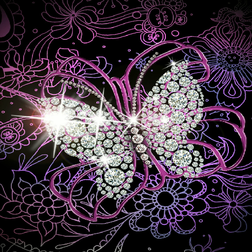 DIAMOND BUTTERFLY WALLPAPER Amazoncouk Appstore For Android