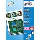 Avery España 1198 - Pack de 200 folios de papel fotográfico para impresoras láser, 210 x 297 mm, color blanco