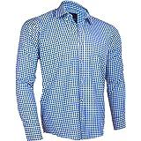 polo frenzy Full Sleeve Shirt For Men Blue and White