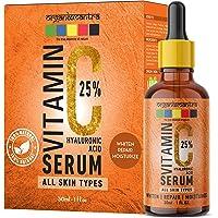 Organix Mantra Vitamin C Serum 25% for Face with Hyaluronic Acid, Ferulic Acid, Vitamin E, B3, Jojoba Oil, Aloe Vera and…