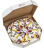 PIZZA SOCKS BOX - Pizza Capriciosa - 4 paires de Chaussettes FANTAISIE Uniques et Originales - CADEAU Drôle en COTON! | pour Fammes et Hommes, Tailles UE: 36-40, 41-46|fabriqué dans l'UE