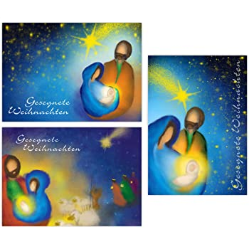 Weihnachtskarten religiöse Motive DIN A6 10er Pack