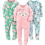 Simple Joys by Carter's Pijama de Forro Polar Resistente al Fuego Bebé-Niñas, Pack de 3