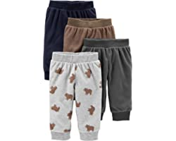 Simple Joys by Carter's Baby Boy's Fleece Trousers, Pack of 4