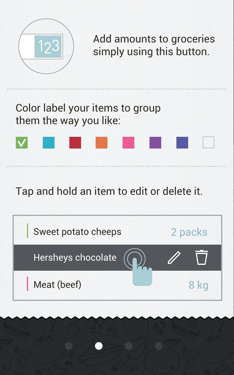 Buy Me a Pie! Grocery List Pro Capture d'écran
