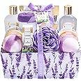 Spa Luxetique Coffret de Bain et de Soins, 12 Pièces, Parfum de Lavande, Lotion pour le Corps, Boules de Bain, Idée Cadeau Pa