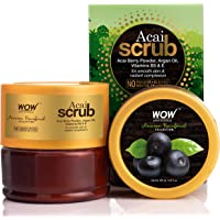 WOW Skin Science - Amazon Rainforest Collection - Rain Forest Acai Scrub - No Parabens, Mineral Oil, Silicones & Color…