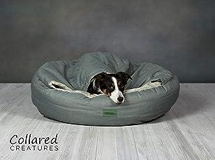 Collared Creatures Deluxe Comfort Hundebett, Cocoon, Salbeigrün