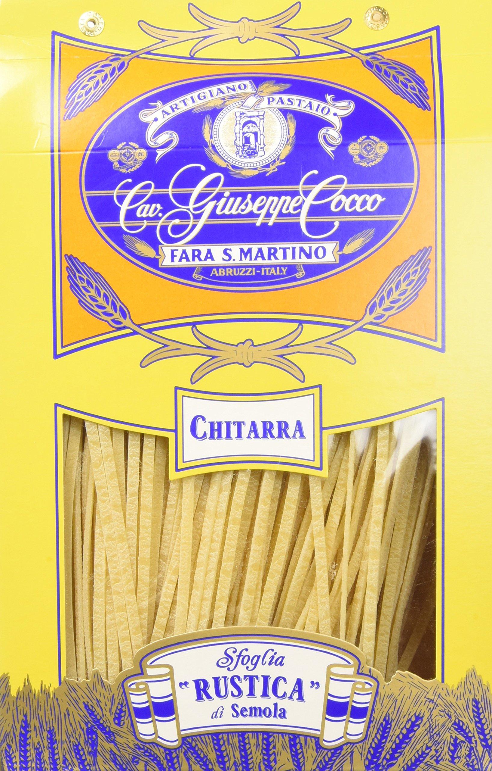 Artigiano Pastaio Formato Chitarra N.158 Cavalier Giuseppe Cocco Fara San Martino Abruzzo - 500 g