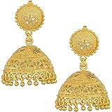 Memoir 24KT Gold plated, Faux Kundan, Superfine handmade rich look Fashion Jhumka Women Traditional Jhumki