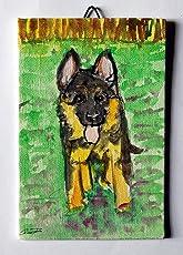 Der Schäferhund-Welpe - Karton Leinwand Größe cm 10x15x0.3 cm, Acryl-Technik und bereit, an der Wand befestigt werden.Made in Italy Lucca Toskana, zertifiziert, Erstellt von Davide Pacini.