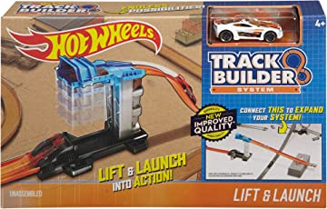 Hot Wheels Track Builder System Lift and Launch Set (Multicolour)