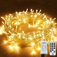 String Lights Mains Powered, 120 LED 15M/49Ft Fairy Lights Waterproof,with 8 Modes Remote Control Fairy Lights Indoor…