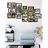 Amazon Brand - Solimo Collage Photo Frames, Set of 16 (3pcs - 4x6 inch, 4pcs - 5x7 inch, 4pcs - 6x8 inch, 2pcs - 6x10 inch, 3