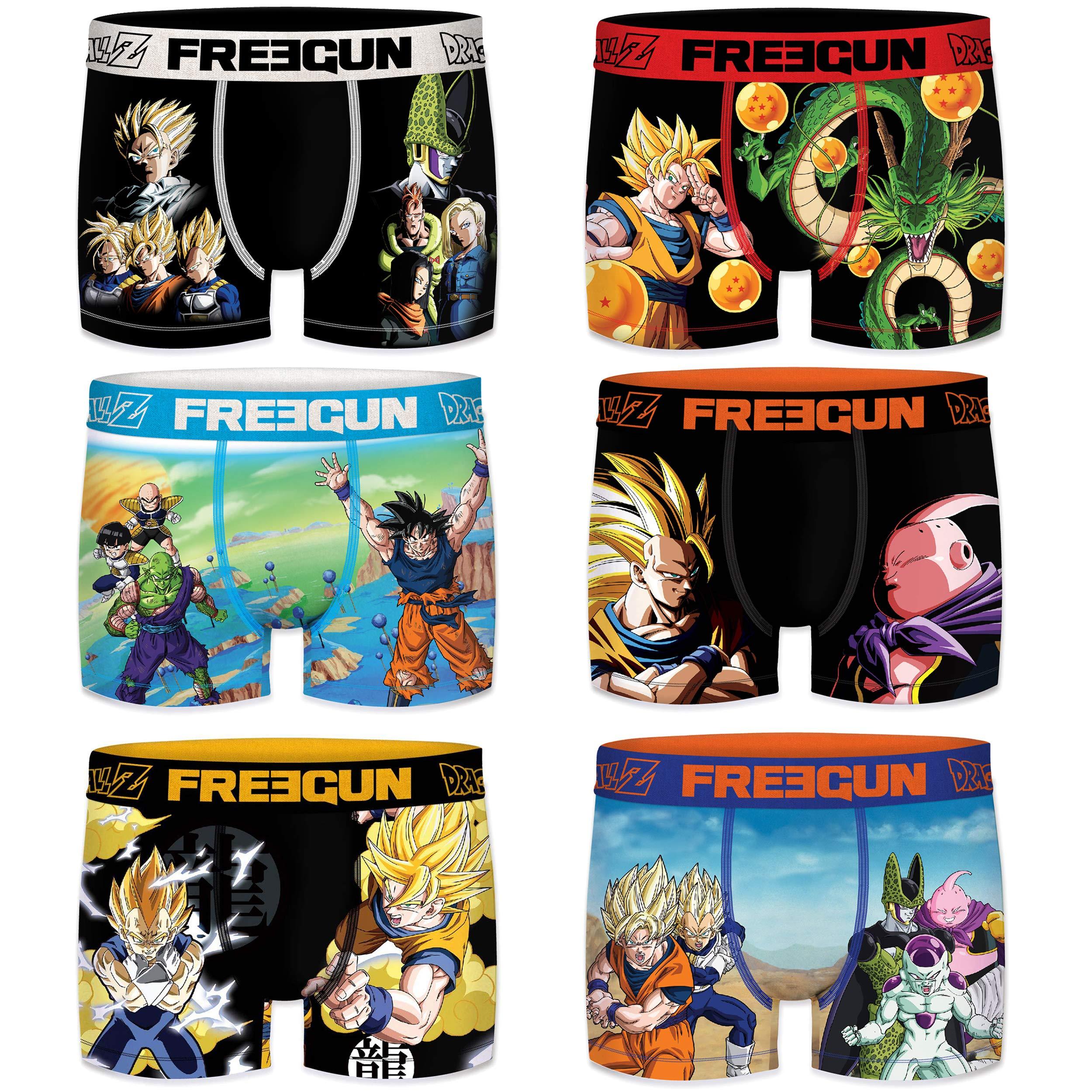 91mlIcggu8L - FREEGUN Boxer unitario Dragon Ball Z para Hombre