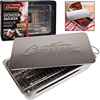 Camerons Indoor Outdoor Compact Stovetop Smoker - Ideal Entry Level Smoker