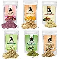 Laam Rose Petal, Orange Peel, Multani Mitti, Aloe Vera, Neem, Sandalwood Powder For Hair, Skin & Health (300 g)