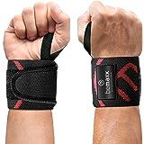 Muñequeras Deportivas Gym Profesionales - 2 Wrist Wraps Straps Resistentes para Levantar de Pesas, Talla Única Ajustable, Hom