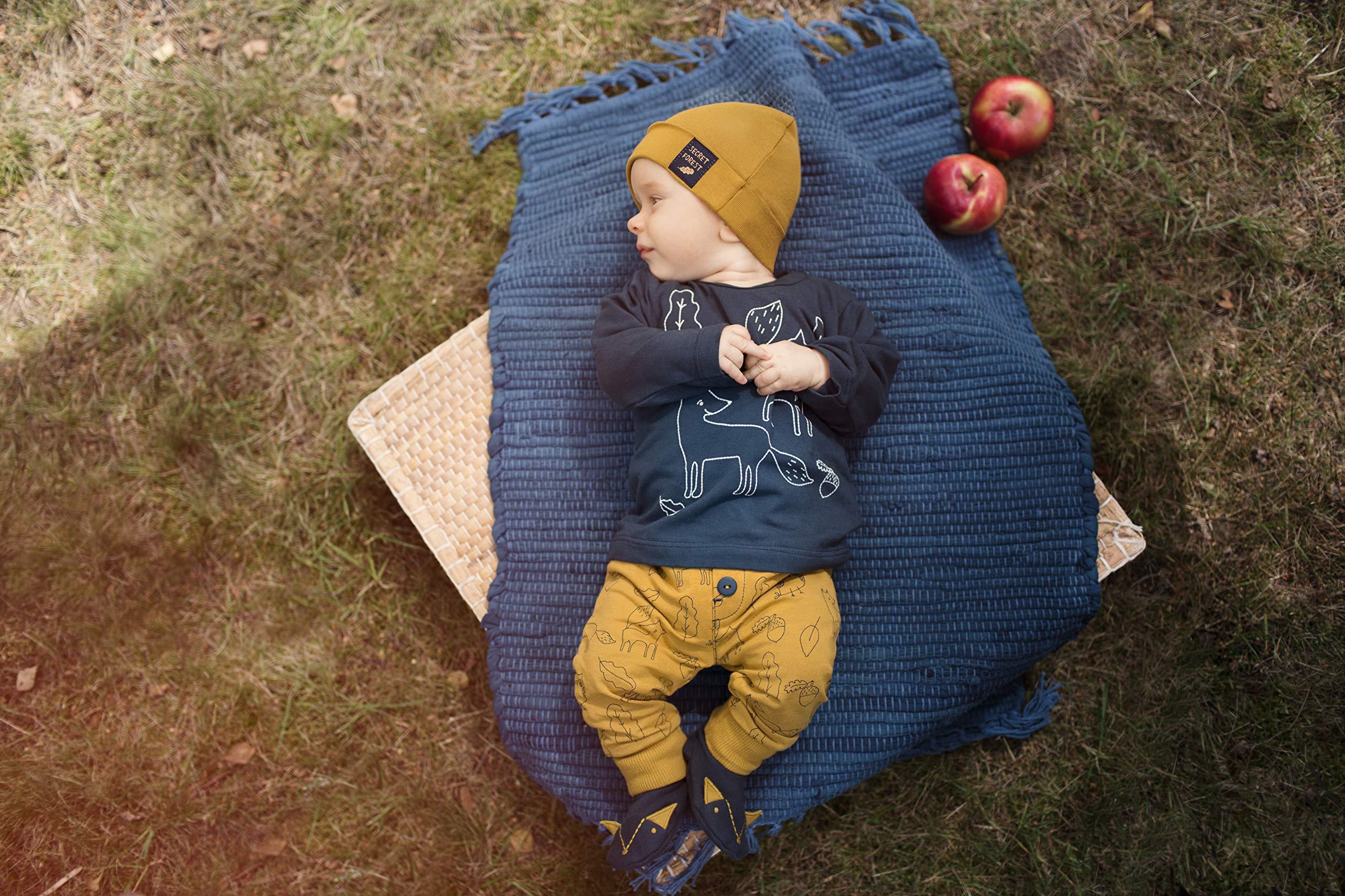 Pinokio - Secret Forest - Bebé Niños Niñas Leggings Unisex Pantalones Amarillo con Estampado 95% Algodón Pants Baby 56… 2