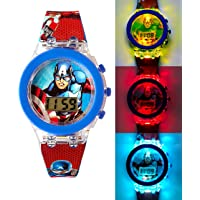 WILD SPARROW Super Hero Multicolored Digital Glowing Light Wrist Watch for Kid's (Best Return Gift for Boy's and Girl's)