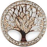 styleBREAKER Colgante de Adorno magnético del árbol de la Vida para chales, pañuelos o Ponchos con Piedras de estrás, Broche,