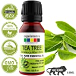 Organix Mantra Tea Tree Essential Oil For Skin, Hair, Face, Acne Care, 15Ml Pure, Natural And Undiluted Therapeutic Grade...