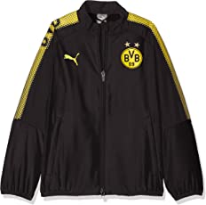 Puma Kinder BVB Leisure JKT Without Sponsor Logo with 2 Side Pockets Wit Jacke