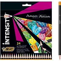BIC Intensity Premium Buntstifte für Erwachsene und Kinder, zum Malen in 24 Farben, hochpigmentiert & mit bruchsicherer…