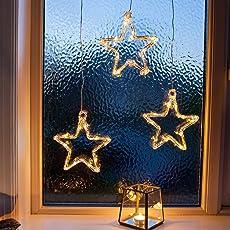 Lights4fun LED Stern Fensterdeko Weihnachtsdeko Batteriebetrieb Parent